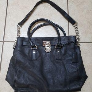 Michael Kors 2 Way Bag Black Leather Shoulder Bag